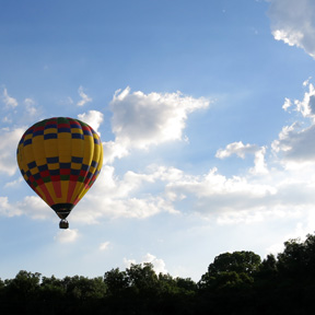 infalting a hot air balloon